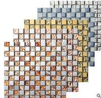Wholesale Small living room metal mosaic Mosaic tile Background Mosaic wall