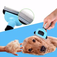 Wholesale Dog Grooming Rake Brush Comb Stainless Steel Hair clipper Shears Pet Detachable Scissors for Dogs and Cats Good for Pets Color A