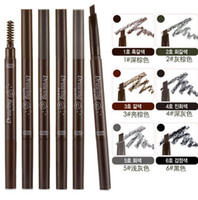 Enhancers - Luxury Etude House Triangular shape Drawing Eye Brow color Long lasting Natural Eyebrow pencil brush Enhancers eye makeup cosmetics tools