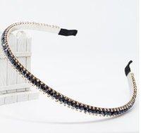 Wholesale New hair hoop Korean headdress hair accessories simple sweet diamond jewelry Japan and South Korea hairpin diamond headband broadside skid