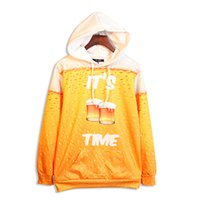 beer time - 2016 new arrival big size loose mens womens cool hoodie D print its beer time casual five size high quality sweatshirts