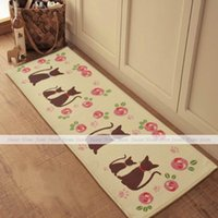bath mat runner - Cartoon Cats Extra Long Bedroom Floor Door Bath Rug Hallway Kitchen Runner Mat x50cm