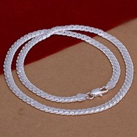 beautiful jewerly - 5MM Snake Chain Necklace Beautiful Fashion Jewerly Making Solid Silver Plated Classic MM Wide Statement New Men s Punk Rock Chain