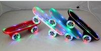 mini skateboard - LED Light Wireless Scooter mini Speaker Bluetooth Mini Speaker Subwoofer Portable Skateboard speaker