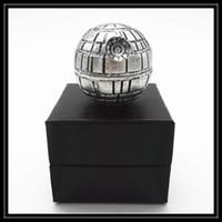 Wholesale Death Star Wars Grinders Parts mm Diametre Zinc Alloy Metal Herbal Grinder Round Ball Muller vs Pokeball Grinders
