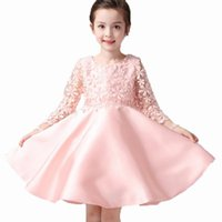 Wholesale Novatx baby girls sleeveless lace bow princess party dress for kids girls years