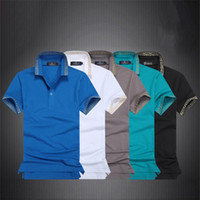 Wholesale Formal T shirt Polos American European Style Mens Breathable Short Mid rised Mens Clothing with Turn down Collar B53