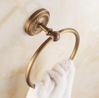 bathroom towel ring bronze - NEW Bathroom Accessories Antique Brass Design Towel Ring Fashion Bronze Wall Mount Bath Towel Holder
