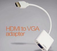 Wholesale HDMI to VGA Converter Audio Video Cables DP Display Port Male to VGA Female Converter Adapter Cable DHL