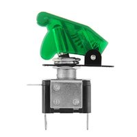 Wholesale Green V A Cover LED Light SPST Toggle Switch For Car Auto Trucks Boat ATV order lt no track