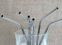 beer lines - 6 MM Stainless Steel Straw bend bent drinking straw beer and fruit juice straw with lines on body