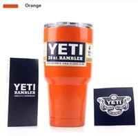 Wholesale orange Yeti Cooler Cup Stainless Steel oz Double Wall Bilayer Vacuum Insulated YETI Rambler Tumbler Cup Vehicle Beer Mug