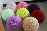 pomander - Inch Wedding silk Pomander Kissing Ball flower ball decorate flower artificial flower for wedding garden market decoration