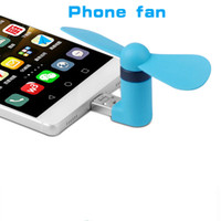 Cheap Wholesale-Portable OTG Micro USB Mini Phone Fan Phone Adapter For IOS Android Smart phone Accessories 2-in1 cellphone mini fan