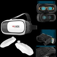 Wholesale VR Box II Smart Bluetooth Wireless Mouse Remote Control Gamepad Haad Band Virtual Reality D Glasses with Retail Package for sexy movie