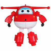 Wholesale Big cm ABS Super Wings Deformation Airplane Robot Action Figures Super Wing Transformation toys for children gift Brinquedos