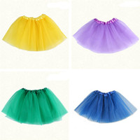 Wholesale Baby Girls Dress Candy Color Kids Tutus Skirt Dance Dresses Soft TuTu Dress Ballet Skirt Girls TUTU Dress Children Pettiskirt Clothes