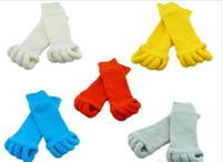 Descuento grande Comfy Toes Sleeping Socks Masaje Cinco Toe Calcetines Happy Feet Calcetines Foot Alignment 500pairs