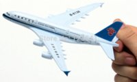airbus aircraft models - 16cm China Southern Airlines Airbus A380 aircraft model airplane model Metal airlines plane model children s toys Christmas gift