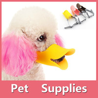 Wholesale Newest Novelty Pet Dog Muzzle Duck Mouth Design Duckbill Style Bite And Bark Stop Harmless Soft Silicone Comfortable For Dogs