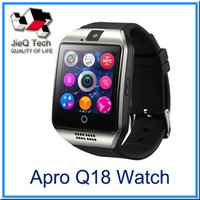 Apro Q18 Smart Watch Bluetooth Watch pour Android Smart Phone Montres-bracelets avec 1.3MP Camera Support Carte SIM 32 Go TF Carte Anti-perdue DHLfree