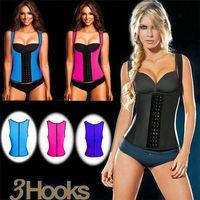Wholesale Sexy Latex Vest Corsets and Bustiers Hot Shapers vest aist Training Corset Top Ann Chery Waist Cincher Bodysuit Women waist Tummy shapper