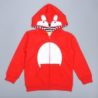 animal hood pattern - Retail Fox Cartoon Kids Coat Spring Autumn Long Sleeve Boy Girl Hoodies Baby Clothes High Quality Animal Fox Pattern Children Outwear