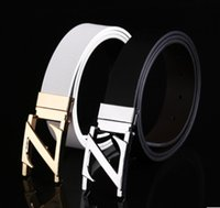 Wholesale Belts Smooth buckle Fashion men s leather smooth buckle on the second floor leather embossing belt strap