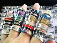 Wholesale mix styles men s women s fashion retro quality stainless steel wedding engagement Jewelry Rings brand new