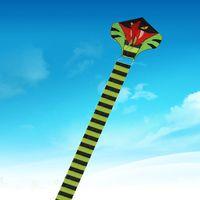 Wholesale m Power Cyan Cobra Kite Green Long Snake Kites Outdoor Fun Sports Flying Kites Easy To Fly Childrens Toys Gift