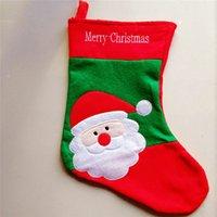 big deer - Big Size Christmas Decorations Santa Claus Snowman Deer Christmas Stockings for Home Decoration46 cm