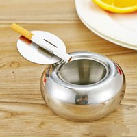 Wholesale Stainless steel drum ashtray Car windproof ashtray KTV ashtray daily supplies