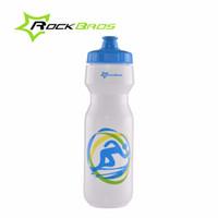 Wholesale ROCKBROS ML Cycling Sport Water Bottle Bicycle Portable Kettle Water Bottle Plastic Outdoor Soprts Mountain Bike Drinkware