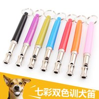 Wholesale Chrome Plated Dog Whistle Ultrasonic For Pets Training Obedience Tools With Keychain Key Ring Outdoor Survival Emergency Exploring