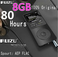 Wholesale 100 Original RUIZU X02 MP3 Player With Inch Screen Can Play hours gb With FM E Book Clock Data