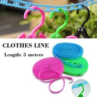 Wholesale 5 meters clothesline rope Airing Clothes rope clothesline windproof antislip clothes line