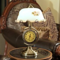 glass table clock - led desk lamp desk lights table lighting new fashion style desk lamps bedroom lamp with clock V V CE ROHS SAA