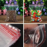 Wholesale 100pcs Clear Bag Plastic Baggy Grip Self Seal Resealable Reclosable Zip Lock Bag For Home Sundries Storages