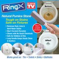 Wholesale 10PCS Natural Pumie Stone Toilet Bowl Ring Remover White Toilet Brushes Easily remove stubborn stains