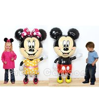 airwalker balloons - Large Minnie Mouse Airwalker Jumbo Foil Balloon Mickey Mouse Airwalker mylar balloon minnie mouse amp mickey mouse party supplies