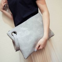 bags shipping companies - South Korea s new hand capture simple retro fashion women s handbag company capacity hand bag zipper envelopes