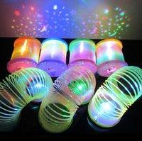 La magia LED de plástico furtivo del arco iris de colores de primavera los nuevos niños de juguete divertido clásico Galaxy flash flash del arco iris de los niños juguetes anillo LJJH1417