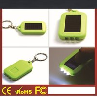 Wholesale LCD Solar Energy Mini Flash LED Light Keychain Outdoor Gadgets Promotion Gift Pieces DHL Fedex Shipping