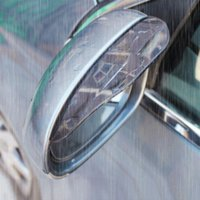 auto rain guards - 1Pair Car Styling Universal Rain Shield Flexible Peucine Car Rear Mirror Guard Rearview Mirror Rain Shade Auto Rainproof Eyebrow