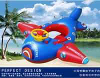 Wholesale Kids Swim Pool Aircraft Float Toys Inflatable Life Ring Buoys Lifebuoys Air Mattress Boy Life Swim Ring Swimming Buoy