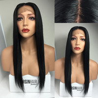 Wholesale Middle Parting x4 Silk Top Glueless Full Lace Wigs Silky Straight Brazilian Full Lace Human Hair Silk Base Wig With Baby Hair