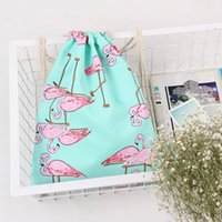 Wholesale 2017New drawstring bag gift package beam pocket candybag women colored cotton and linen fabrics bag shopping bag kids packsack