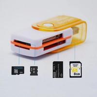 Acheter Adaptateurs memory stick-Tout en 1 USB 2.0 Lecteur de carte mémoire Multi Adaptateur Connecteur Pour Micro SD MMC SDHC TF M2 Memory Stick MS Duo RS-MMC