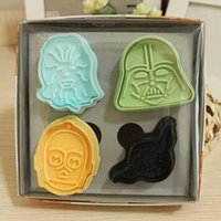 Wholesale New arrivel StarWars D Stamp Star Wars Set cake Cookie Cutter Fondant Decorating Catoon Baking Moulds