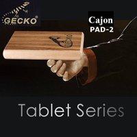 Wholesale New Arrival Gecko Percussion PAD Zebra Wood Cajon Drum With Bag